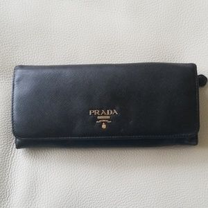 Authentic Saffiano Leather Prada Wallet